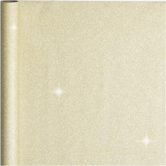 Gavepapir, guld, B: 50 cm, 80 g, 3 m/ 1 rl.
