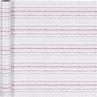 Gavepapir, rød, hvid, doodles, B: 70 cm, 80 g, 4 m/ 1 rl.