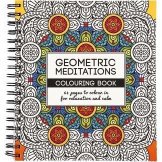 Mindfulness malebog, geometrisk, str. 19,5x23 cm, 64 , 1 stk.