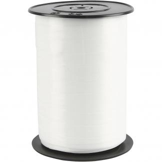 Gavebånd, B: 10 mm, hvid, blank, 250m