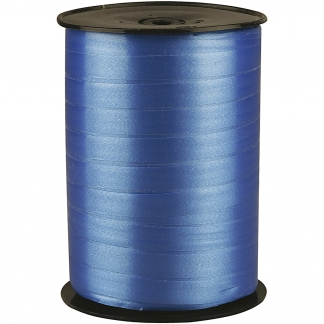 Gavebånd, B: 10 mm, blå, blank, 250m