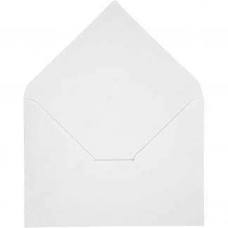 Kuvert, hvid, str. 11,5x16 cm, 100 g, 10stk.