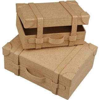 Minikufferter , H: 5 cm, L: 7.5 cm, B: 14 cm, 2 stk./ 1 sæt