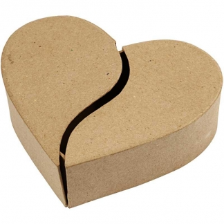 Hjerteæske, diam. 16,5 cm, H: 5 cm, 1stk.