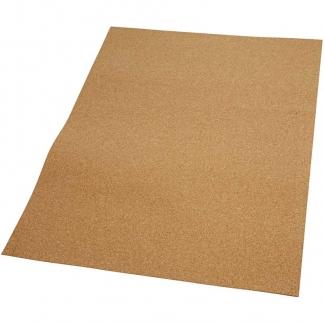 Korkplade, str. 35x45 cm, tykkelse 2 mm, 4stk.