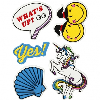 Soft Stickers, Whats up, 12,2x17,75 cm, 1 ark