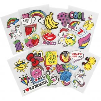Soft Stickers, 12,2x17,75 cm, 8 ark/ 1 pk.