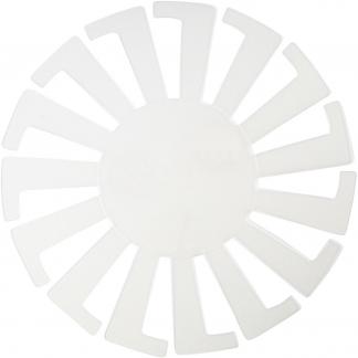 Flet-let-skabelon, transparent, H: 8 cm, diam. 14 cm, 10 stk./ 1 pk.
