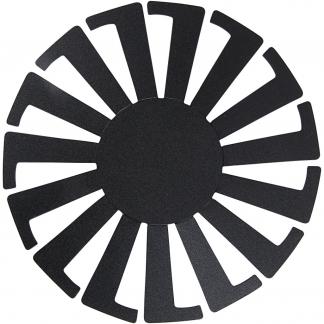 Flet-let-skabelon, sort, H: 8 cm, diam. 14 cm, 10 stk./ 1 pk.