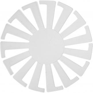 Flet-let-skabelon, transparent, H: 6 cm, diam. 8 cm, 10 stk./ 1 pk.