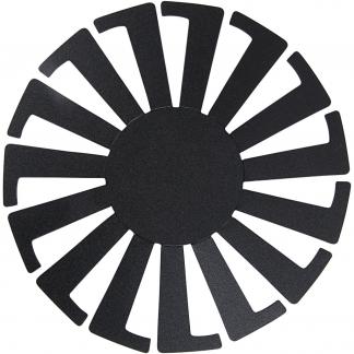 Flet-let-skabelon, sort, H: 6 cm, diam. 8 cm, 10 stk./ 1 pk.