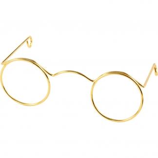 Briller, guld, B: 60 mm, 10 stk./ 1 pk.