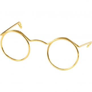 Briller, guld, B: 50 mm, 10 stk./ 1 pk.