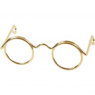 Briller, guld, B: 35 mm, 10 stk./ 1 pk.