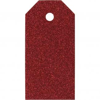 Manilamærker, str. 5x10 cm, 300 g, rød, 15stk.