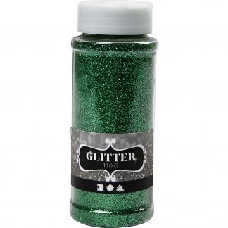 Glitter, grøn, 110 g/ 1 ds.