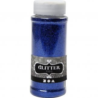 Glitter, blå, 110 g/ 1 ds.