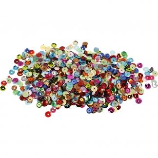 Pailletter, runde, diam. 6 mm, 10 g/ 1 pk.