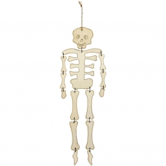 Skelet, H: 35 cm, tykkelse 3 mm, krydsfiner, 1stk.