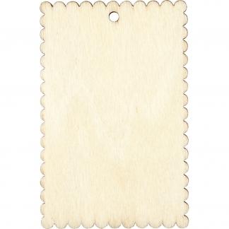 Skilt, str. 8x5,2 cm, tykkelse 3 mm, 8stk.