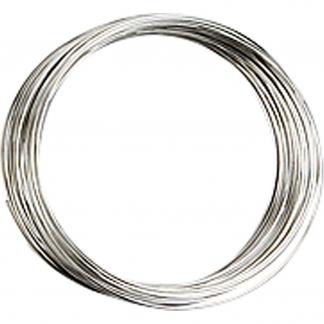 Memory wire, forsølvet, diam. 5 cm, tykkelse 0,7 mm, 1 stk.