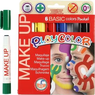Playcolor Make up, ass. farver, basic, 6x5g