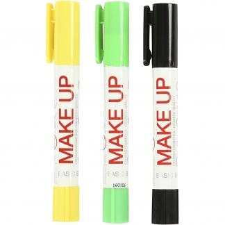Playcolor Make up, lys grøn, gul, sort, krybdyr, 3x5g